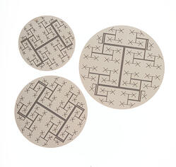photo etched gas sampling disks with half-etched flow channels and through holes