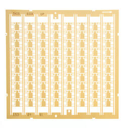 Photo etched and gold plated leadframes